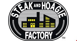 Product image for Steak & Hoagie Factory FREE hoagie buy 2 hoagies, get 1 free.