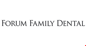 Product image for Forum Family Dental $39 initial exam, digital x-rays & cleaningoral cancer screening & complete periodontal evaluation Fluoride treatment included for children 12 and under