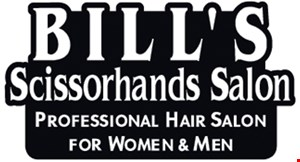 Bill's Scissorhands Salon logo