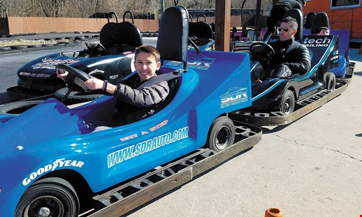 Product image for The Go-Kart Track, Inc. $25 OFF Pizza Party. Valid anytime • Minimum 11 guests Birthday Kid is Free.