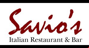 SAVIO'S ITALIAN RESTAURANT & BAR logo