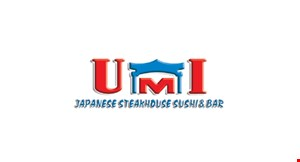 Product image for Umi Japanese Steakhouse Sushi Bar $10 off any purchase of $50 or more.