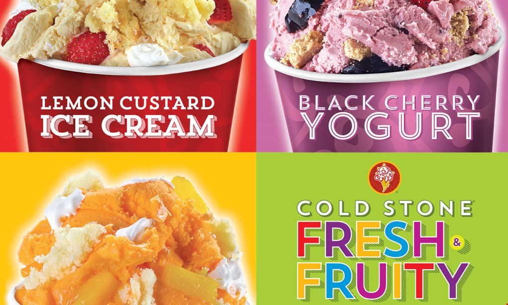 Product image for Cold Stone Creamery 2 For $6 Two Like it™ Size Create Your Own (Ice Cream + 1 Mix-in) for $6.
