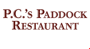 Product image for P.C.'S Paddock Restaurant $10 off dinner