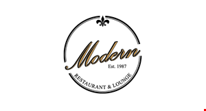 Product image for Modern Restaurant & Lounge $5 Off any order of $30 or more OR $10 Off any purchase of $50 or more