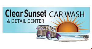 Clear Sunset Car Wash logo