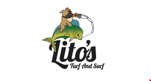 Lito's Turf and Surf logo