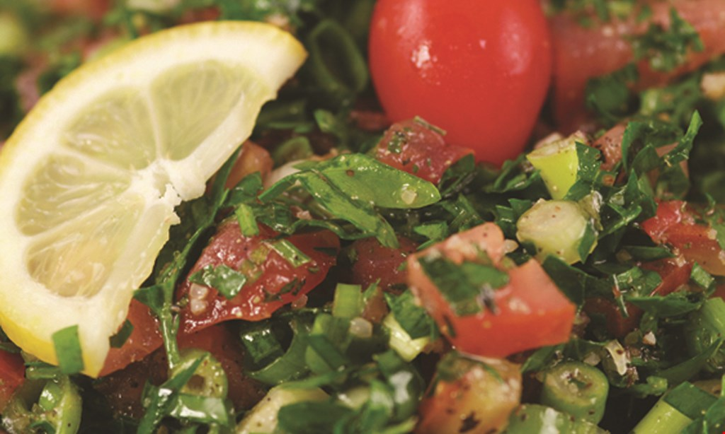 Product image for Shishka Lebanese Grill $25.99 dinner combo 1 veggie combo & a choice of mixed grill or salmon fillet.