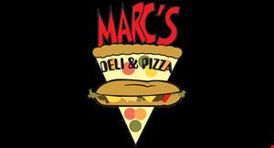 Marc's Deli & Pizza logo