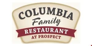 Columbia Family Restaurant at Prospect logo