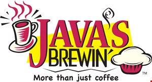 Product image for Java's Brewin $5off any pick-up order