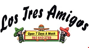 Product image for Los Tres Amigos $5 off any purchase