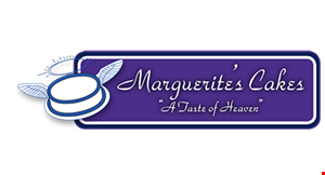 Product image for MARGUERITE'S CAKES Free wedding cake gourmet tasting ($120 value) - call today for your appointment - all decision makers must be present at the time of tasting. $100 off any wedding cake package min. of 60 servings - ordered at the time of tasting. .