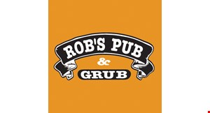 Product image for Rob's Pub & Grub $10 Off any purchase of $50 or more