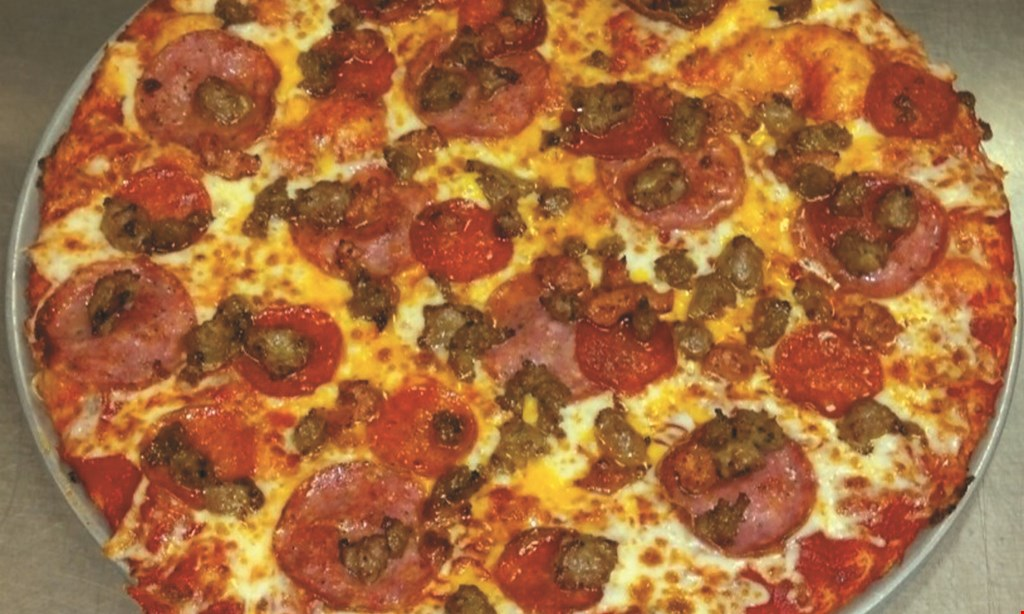 Product image for Paso's Pizza Kitchen $35.99 2 med. 2-topping pizzas, antipasto salad, an order of asiago twists & a 2-liter of soda pickup or delivery only