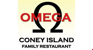 Product image for Omega Coney Island $2 off total check of $15 or more OR $4 off total check of $25 or more when you pay in cash.