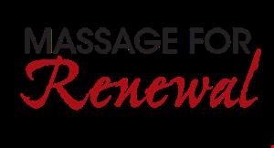 Massage for Renewal logo