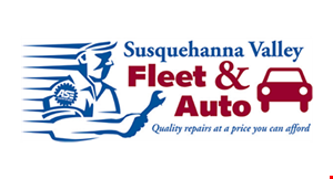 Product image for Susquehanna Valley Fleet & Auto $5 off discount off any oil change package.