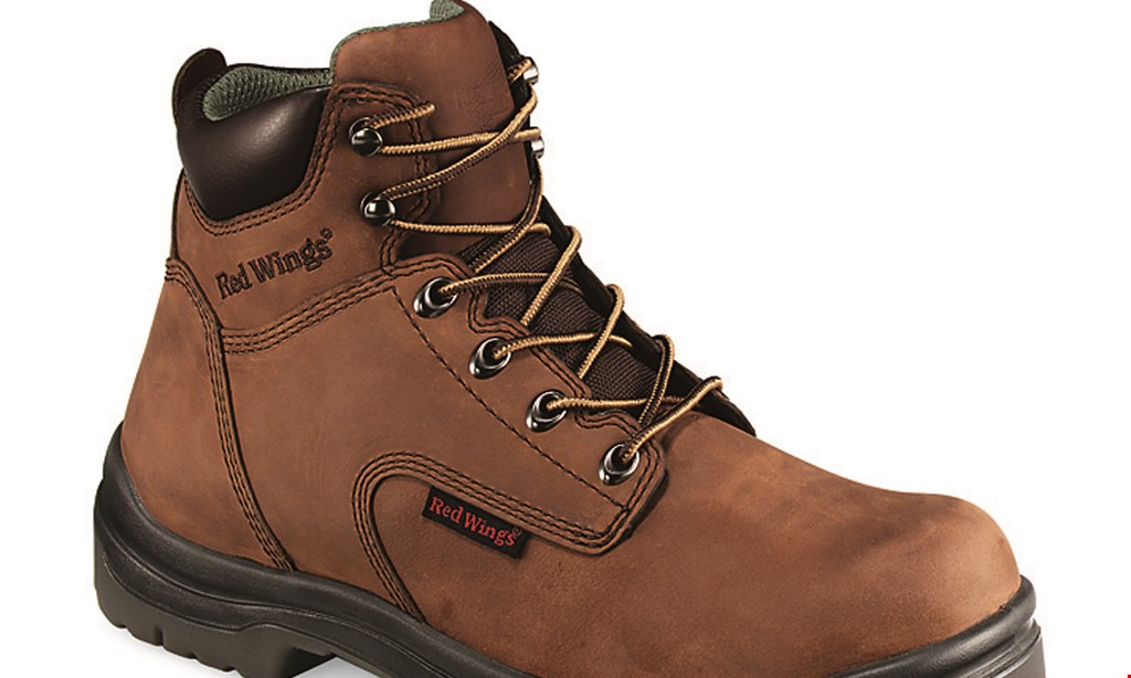 Product image for RED WING SHOES Save $25 any Red Wing boot or shoe OR 10% discount on Worx, Heritage, Irish Setter, Vasque or Red Wing casual shoes