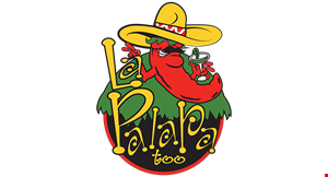 Product image for LA PALAPA TOO $5 off any purchase of $30 or more