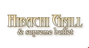 Product image for Hibachi Grill & Supreme Buffet $5 Off any purchase of $30 or more.