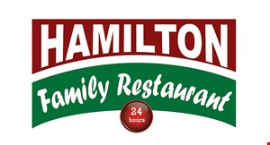 Product image for Hamilton Family Restaurant $4 OFF any purchase