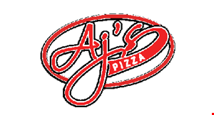 Product image for AJ'S PIZZA $2 off any pizza, dinner, lg. sub or large salad