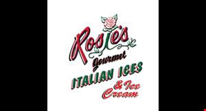 Product image for Rosie's Gourmet Italian Ices 1/2 PRICE ICE CREAM OR RADIO BALL