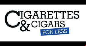 CIGARETTES & CIGARS FOR LESS logo