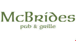 Product image for Mcbrides Pub & Grille $10 OFF any purchase of $50 or more dine in only.