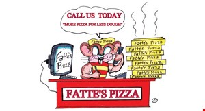 Product image for Fattes Pizza Paso Robles $42.99+ tax Party Pack 4 Large Pizzas With 2 Toppings And A 12-Pack Of Soda.