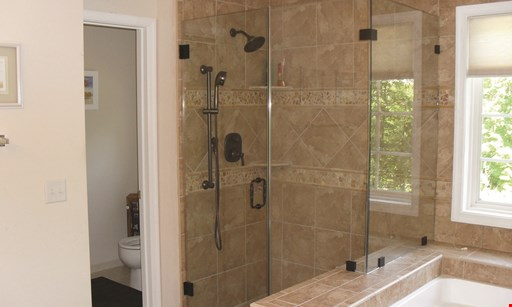 Product image for Aquia Glass & Mirror Up to $200 off frameless shower.