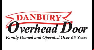 Product image for Danbury Overhead Door $10 off service.
