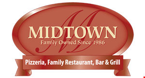 Product image for Midtown Pizzeria & Family Restaurant $10 off any food purchase