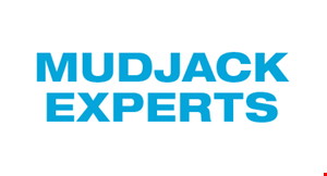 Product image for Mudjack Experts  End of Season - Fall Special $100 off any concrete lifting. Good only at time of estimate