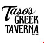 Taso's Greek Taverna logo