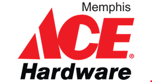 Product image for MEMPHIS ACE HARDWARE $10 Off any purchase of $20 or more.