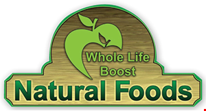 WHOLE LIFE BOOST NATURAL FOODS logo