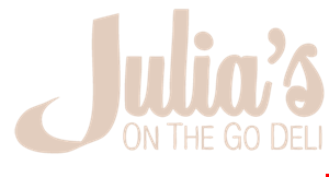Julia's on The Go logo