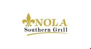 Product image for Nola Southern Grill $5.00 off any purchase of $25 or more $10.00 off any purchase of $45 or more.