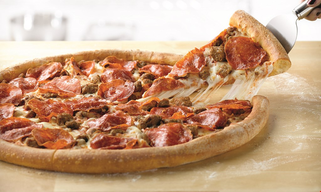 Product image for Papa John's large one-topping pizza only $8.00