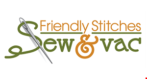 Friendly Stitches Sew & Vac logo