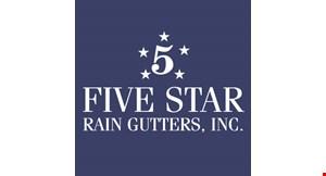 Five Star Rain Gutters logo
