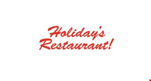 Product image for Holiday's Restaurant $3 OFF any purchase of $35 or more.