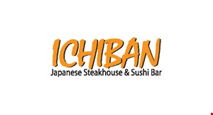 Product image for Ichiban Japanese Restaurant & Sushi Bar $10 Off $60 purchase of hibachi dinner entrees & drinks only.