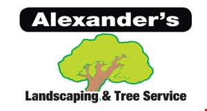 Alexander's Landscaping & Tree Service logo