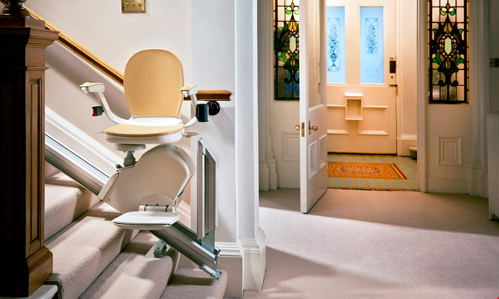 Product image for A+ Stairlifts of Pittsburgh $200 OFF Used Stairlifts $600 OFF New Stairlifts Only.