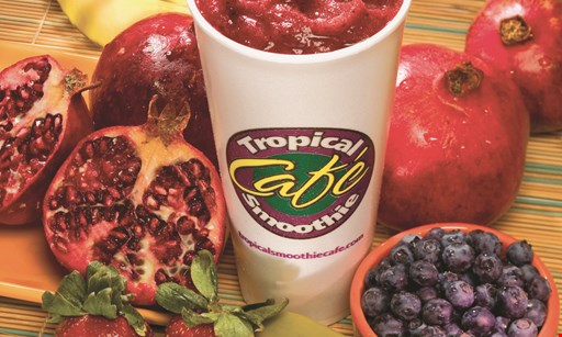 Product image for TROPICAL SMOOTHIE CAFE Free smoothie purchase any smoothie & get a second of equal or lesser value free.
