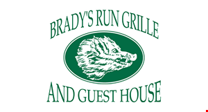 Product image for Brady's Run Grille $5 off dinner check