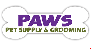 Paws Pet Supply & Grooming logo